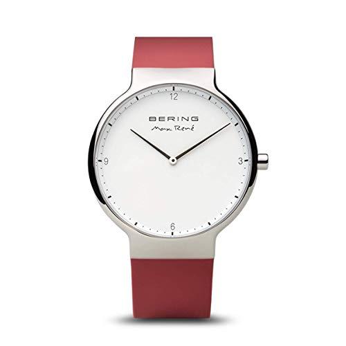 BERING Reloj Analogico para Mujer de Cuarzo con Correa en Silicona 15540-500