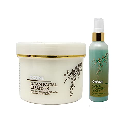 OZONE D Tan Facial Cleanser 250 gm with Classic Cucumber Toner FREE