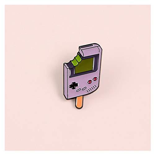 JIWEIER Popsicle Jeu Portable Joueur émail Pins Rétro 80S 90S Enfance Consoles Denim Collier Broches épinglettes for Les Enfants des Amis Broches pour Les Femmes (Size : 1pcs)