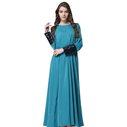 Geilisungren Mujer Vestido Mujer Kaftan Manga Larga Abaya Ropa Islámica Modest Full...