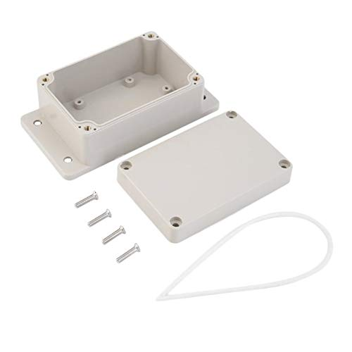 Wasserdicht 100 x 68 x 50 mm Kunststoff Elektronische Projektbox Gehäuse DIY Gehäuse Instrumententasche - Weiß
