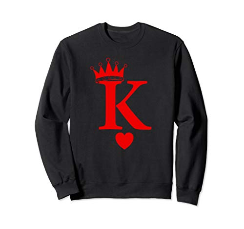 King of Hearts, Queen of Hearts Playing Cards, Deck of Cards Sweatshirt