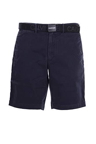 Calvin Klein Pantalones cortos Slim de algodón orgánico con cinturón turquesa 35