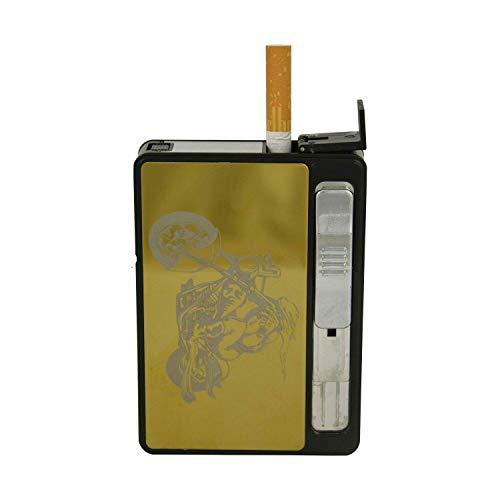 Zigarettenetui mit Glühspirale USB Feuerzeug Sturm Feuerzeug Biker