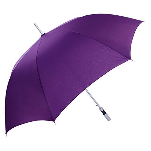 Paraguas clásico de golf paraguas de palo de golf, duradero, paraguas de viaje soleado, mango largo, potente repelente al agua c
