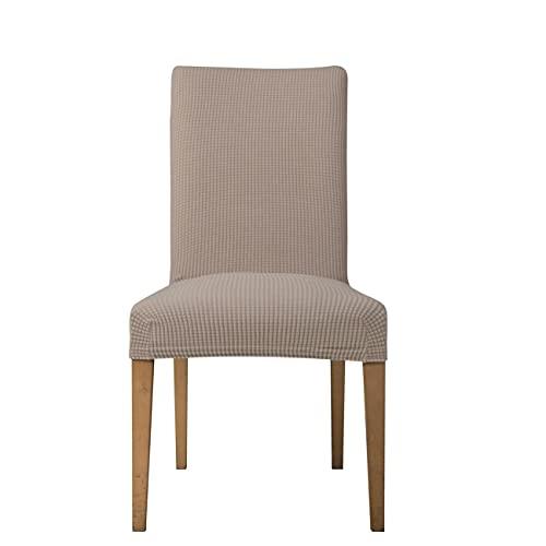 E EBETA Jacquard Fundas para sillas Pack de 6 Fundas sillas Comedor Fundas elásticas Cubiertas para sillas,bielástico Extraíble Funda, Muy fácil de Limpiar (Arena, 6 Piezas)