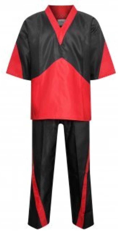 Elite Freestyle VNeck Team Uniform  Black Red