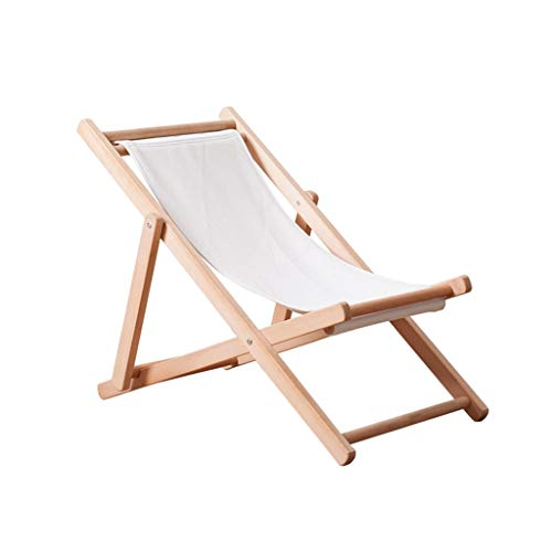 ZRJ Sillas Plegables Silla de Camping al Aire Libre Compacto Sillas Plegables portátiles Marco de Madera Maciza para Excursionismo al Aire Libre Playa de Picnic Sillas (Color : White)