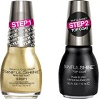 Kylie Jenner King Kylie Collection Nail Polish The Royal Me Bundle with Top Coat, 0.5 Fl Oz Each Bottle