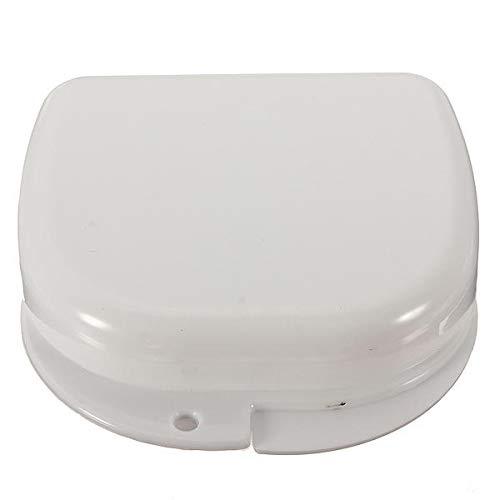 FEIYI Zahnprothesen-Aufbewahrungsbox für das Badezimmer, Zahnprothesen-Aufbewahrungsbox, Zahnprothesen, Weiß