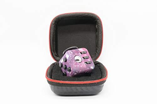 VintageⅢ Anti Stress Würfel [wie Fidget Cube] Fidget DICE 6 Sides Fidget Toys Cube Relieves Stress and Anxiety Cube mit 6 Seiten und Funktionen gegen Stress for Children and Adults (Galaxy)