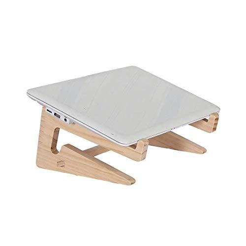 VIVOCFan Houten laptopstandaard houder, tablet pc houder, laptop geheugen, draagbaar opvouwbare laptop standaard riser, ondersteuning notitieboek Pc 156 inch A 23,5 x 22 x 12 cm (9x9 x 5 inch)