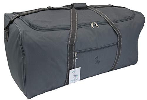 Extra grote XL Big Holdall reistas - 140 Liter zeer grote grijze bagage cargo bags opslag, reizen of Wassen