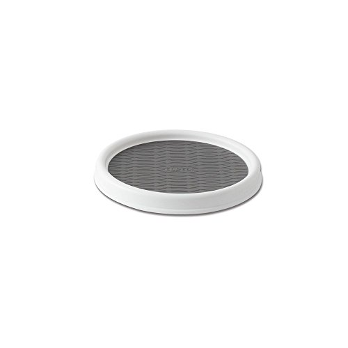Copco 25550191 NonSkid Pantry Cabinet Lazy Susan Turntable 9Inch White/Gray
