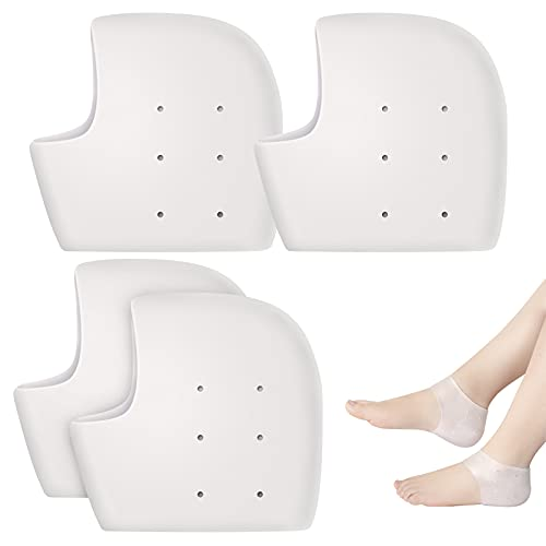 Ealicere 2 Pares Protector Talon,Calcetines Silicona, Protector Talon Silicona, almohadillas de gel...