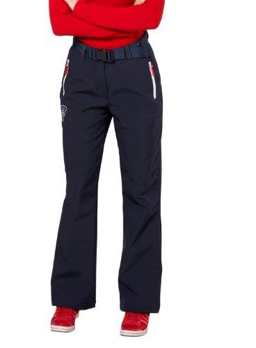 Fifty Five Softshell-Regenhose Victoria-Outdoorhose mit Five-TEX Membrane, Pantalon imperméable Femme, Blau (Navy 002), 36W x 32L (Taille du Fabricant: 46)