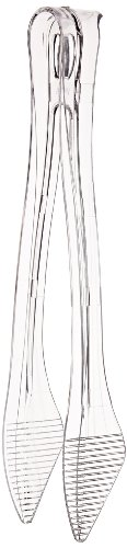 Classicware Heavyweight Plastic Tongs, 9-Inch Length, Clear (40-Count)