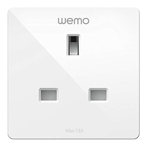 Wemo Enchufe Inteligente (Enchufe Inteligente para hogar Inteligente, Luces de Control y Dispositivos de Forma remota, Funciona con Apple HomeKit) Enchufe Inteligente WiFi