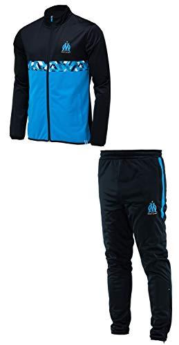 Olympique de Marseille Trainingsanzug, offizielle Kollektion, Herrengröße M Schwarz