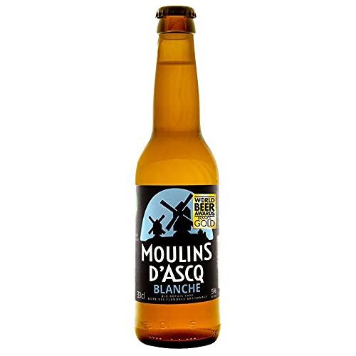 Moulins d'Ascq Cerveza Bioecológica Orgánica Artesanal Tipo Blanche Blanca - 33 cl.