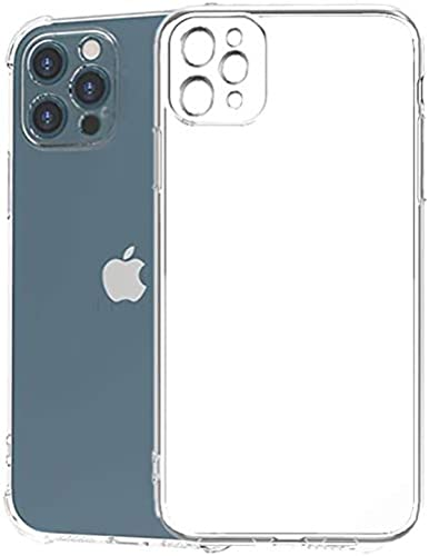 Tough Lee Back Cover Case for Apple iPhone 12 Pro Max with Perfect Camera Cuts Dust Plug Cushioned Shockproof Edges Transparent