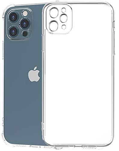 Tough Lee Back Cover Case for Apple iPhone 12 Pro Max with Perfect Camera Cuts, Dust Plug, Cushioned & Shockproof Edges (Transparent)