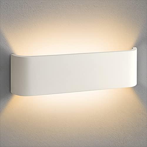 OOWOLF Aplique Pared Interior 12W 1200lm, Blanco Cálido 3000K Lampara LED Pared , Apliques de Pared Modernos, Luz de Pared Para Escalera, Baño, Decoracion, Dormitorio, Salón