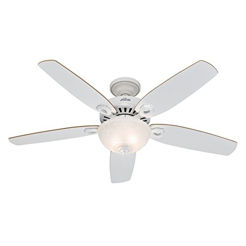 Hunter Fan 50570 Builder Deluxe - Ventilador de techo con luz blanco