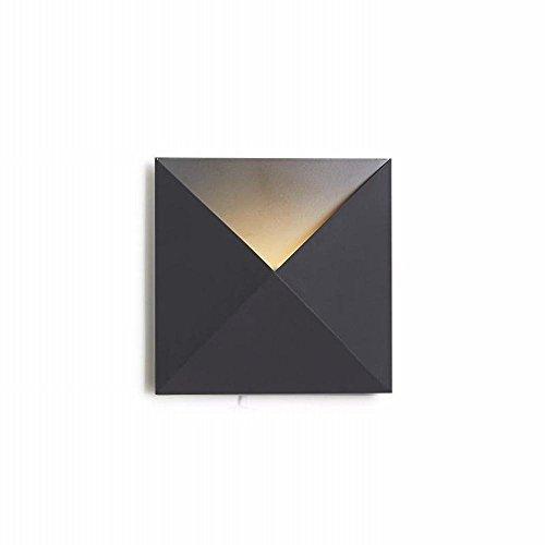 YLXB Scandinavische minimalistische kunst creatieve slaapkamer nachtkastje hal geleid wandlamp, zwart, 20 cm