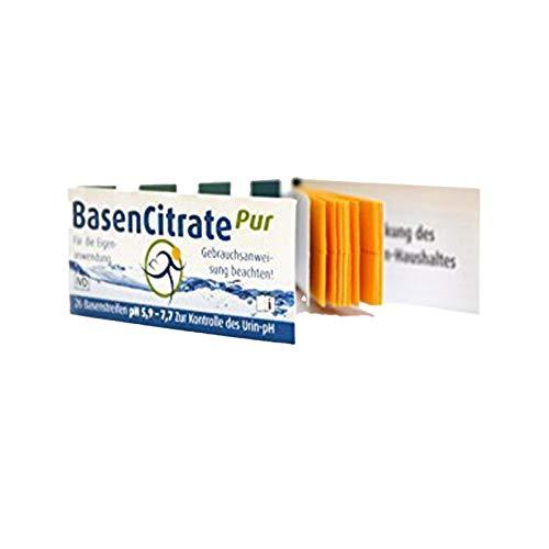 MADENA BasenCitrate Pur Urin Teststreifen, 26 Stück, Basenstreifen Kontrolle pH-Wert im Urin, Test für Säure-Basen-Haushalt