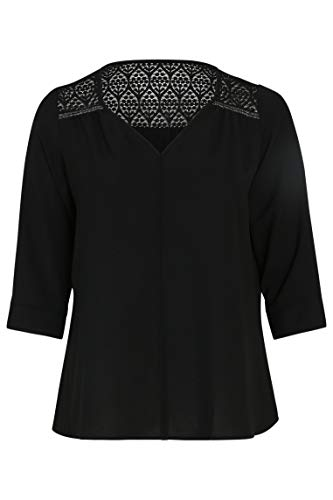 PAPRIKA Damen große Größen Bluse mit Spitze im oberen Bereich 3/4 Ärmel