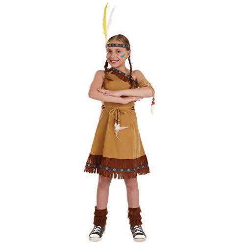 Fun Shack Marrón Nativo Americano Disfraz para Niñas - L