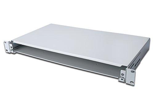 DIGITUS Professional Glasfaser Spleißbox, ausziehbar, 1HE, 483 mm (19