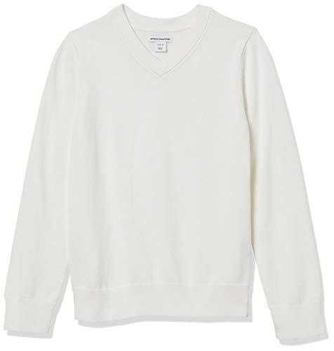 Amazon Essentials Girls' Uniform Cotton V-Neck Sweater,...