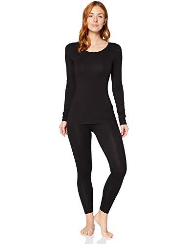 Iris & Lilly Damen Extrawarmes Thermo-Unterhemd mit Langen Ärmeln, Schwarz (Black), S, Label: S