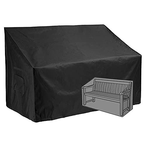 The Fellie Garden Bench Cover 3 Seater, Bench Cover Waterproof, Garden Bench Covers 420D Heavy Duty Oxford Fabric, Garden Bench Covers Anti-UV for Benches (190x66x(60-89)cm - 3 seats)