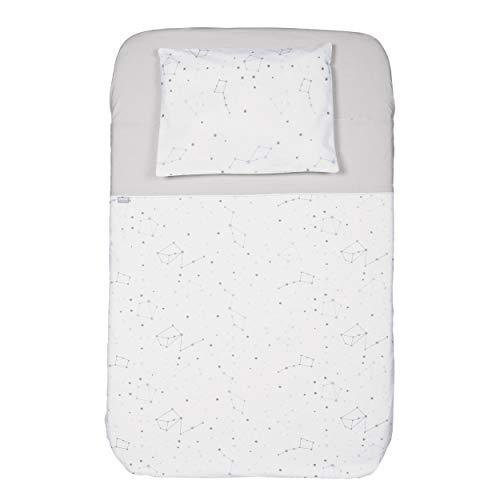 Chicco - Parure di Biancheria da letto, per Culla Next2Me, Set da 3 Pezzi Federa cuscino + Lenzuolo + Copri-materasso.