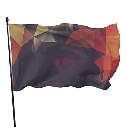 GOSMAO Bandera de jardín Retro Láser Geométrico Color Vivo y UV Resistente a la decoloración Bandera de Patio de Doble Costura Bandera de Temporada Banderas de Pared 150X90cm