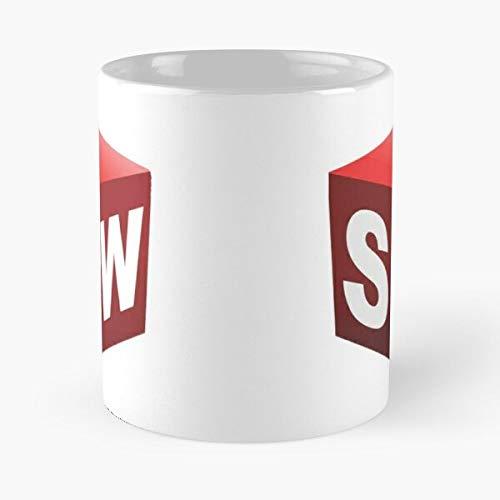 Solidworks Solid Cad CAE Cadcam Simulation Works Cam Eat Food Bite John Best 11 Ounce Ceramic Coffee Mug