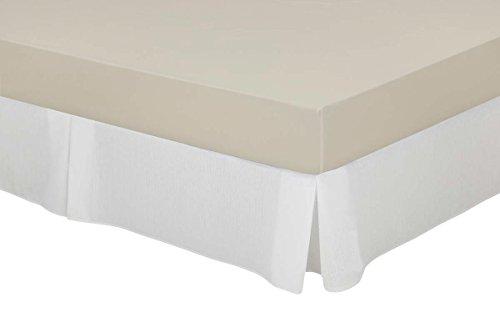 Cassa Luyton bankovertrek van katoen-polyester, wit, 180 x 200 cm