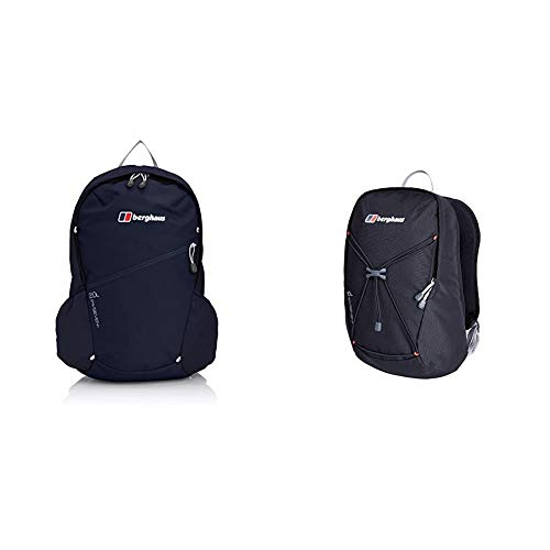 Berghaus TwentyFourSeven Plus 20 Litre Outdoor Rucksack Backpack, Eclipse & TwentyFourSeven Plus 15 Litre Outdoor Rucksack Backpack, Black