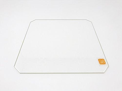 Placa de cristal de borosilicato de 220 mm x 220 mm con corte en esquina para impresoras 3D Wanhao i3, Anet A8 y MP Maker Select