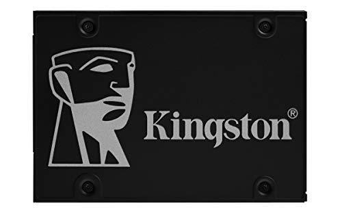 """Kingston KC600 SSD, SKC600/512 GB, Interne SSD 2.5"""" SATA Rev 3.0, 3D TLC, Crittografia XTS AES a 256-bit, Solo Drive, Nero"""