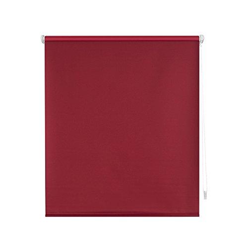 HappyStor Door Dark Estor Enrollable EasyFix Tejido Opaco 208-Burdeos Medida Total Estor: 87x180 (**Solo Ancho Tela:83-84cm.**)