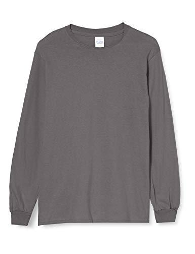 Gildan Ultra Cotton L/Sleeve tee Camiseta, Gris (Charcoal), XL para Hombre