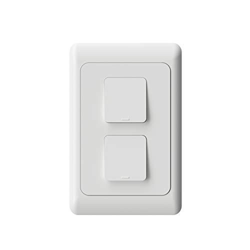 Interruptor Inteligente WiFi AGL, 02 teclas - Compatível com Alexa, Branco