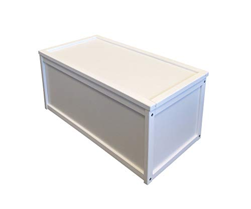 Valdern White Wooden Toy Box/Chest Box Storage Unit for Kids Children and Personalised Gifts