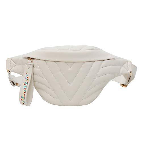 Women Shoulder Bag Satchel Elegant Chest Bag Vintage Stylish Casual Simple Travel Beach Messenger Bag(Beige)