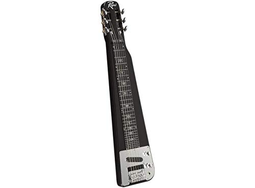 Rogue RLS-1 Lap Steel Guitar with Stand and Gig Bag Metallic Black