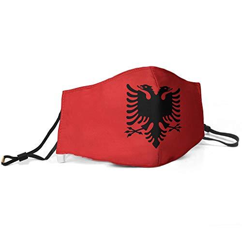 Europe Albanian Flag Face Balaclavas Bandana Mouth Cover Reusable Face Cloth for Women and Men